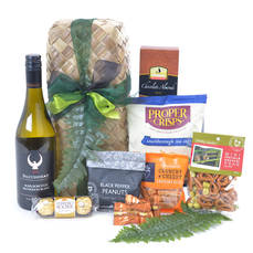 Wine and Nibbles Gift Basket